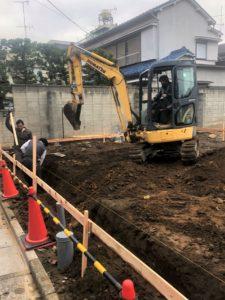 東京都足立区 H様邸新築工事:基礎工事着工