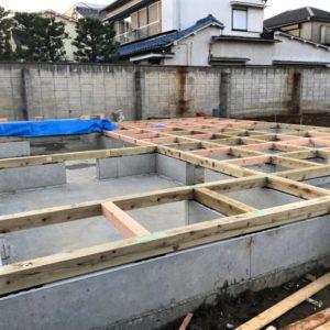 東京都足立区 H様邸新築工事:土台敷き
