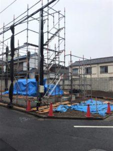 東京都足立区 H様邸新築工事:足場