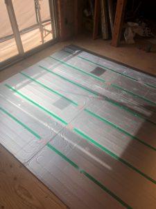 東京都足立区 H様邸新築工事:床断熱施工