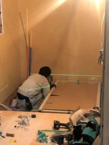 東京都足立区 H様邸新築工事:ユニットバス施工