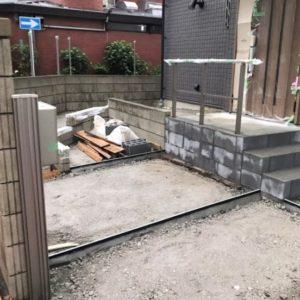 東京都足立区 H様邸新築工事:エクステリア工事④