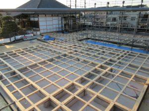 埼玉県さいたま市西区 寺院新築工事:土台敷き完了