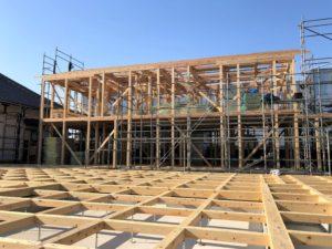 埼玉県さいたま市西区 寺院新築工事:庫裏上棟